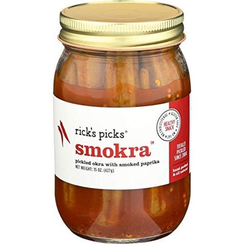 Ricks Picks Smokra, 15-Ounce Jars Pack of 4
