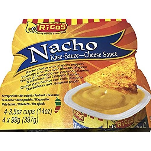 Ricos Nacho Cheese Sauce, 2-Packs 4-Individual Cups in Each Pack