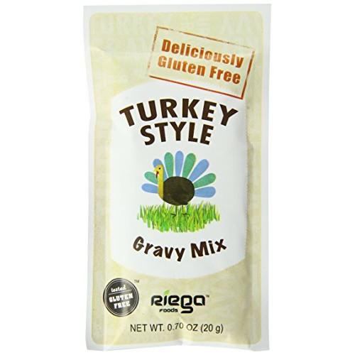 Riega Gluten Free Turkey Style Gravy Mix, 0.70 Ounce Pack of 8