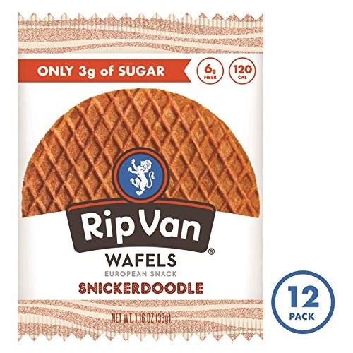 Rip Van Wafels Snickerdoodle Stroopwafels - Healthy Snacks - Non...