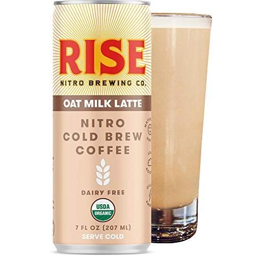 RISE Brewing Co. | Oat Milk Nitro Cold Brew Latte 12 Pack 7 fl...