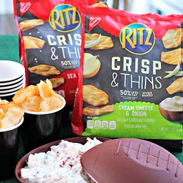 Ritz Crisp and Thins Cream Cheese and Onion Chips, 7.1 oz, Pack ...