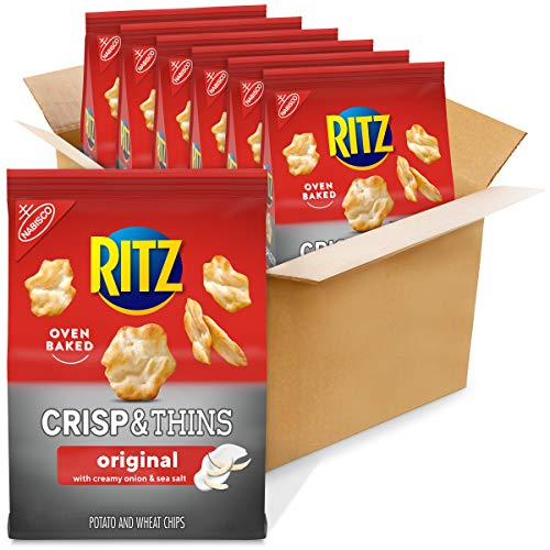 Ritz Crisp & Thins Original with Creamy Onion & Sea Salt Chips ...