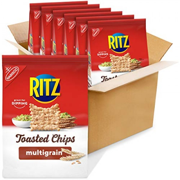 Ritz Toasted Chips, Great Plains Multigrain, 8.1 Ounce Pack of 6