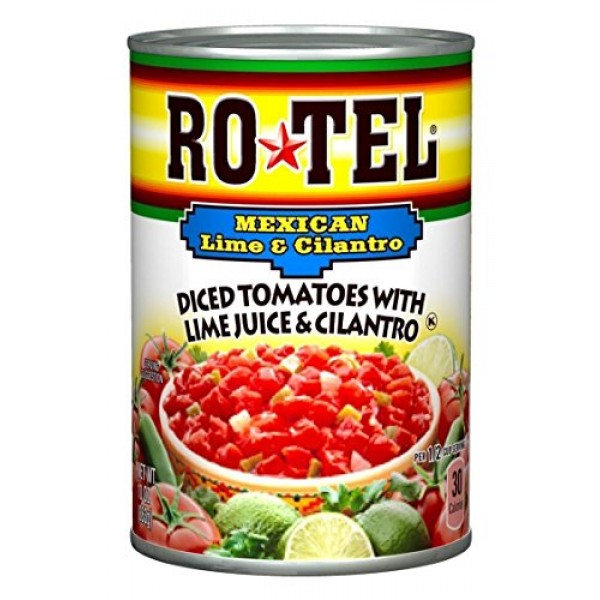 Ro-Tel, Diced Tomatoes, Mexican, 10oz Can Pack of 3