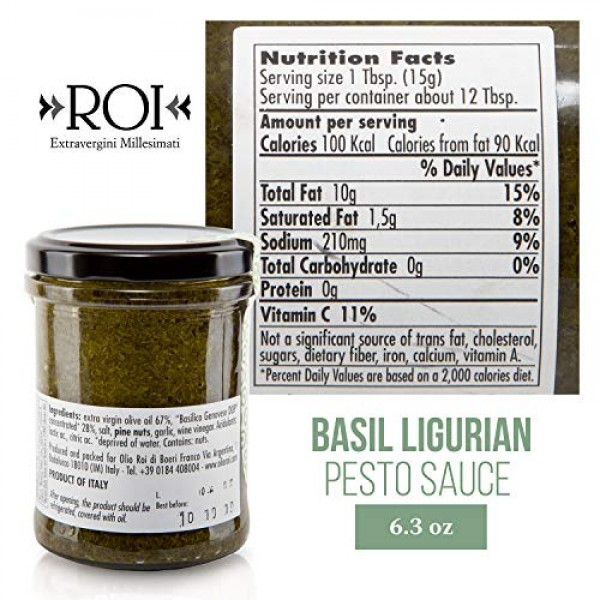ROI - Imported Italian Ligurian Pesto Sauce 6.3oz 180g