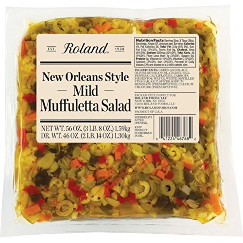 Roland Foods New Orleans Style Muffuletta Salad, Mild, 56 Ounce