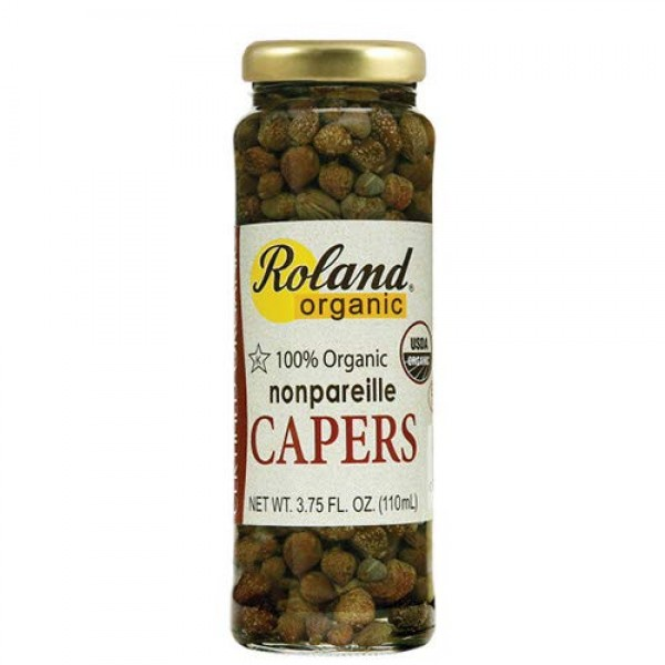 Organic Nonpareille Capers by Roland 3.75 ounce