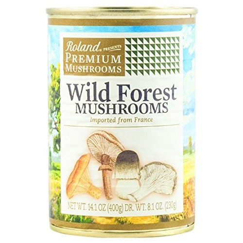Roland Mushrooms, Wild Forest, 14.1 Ounce Pack of 4