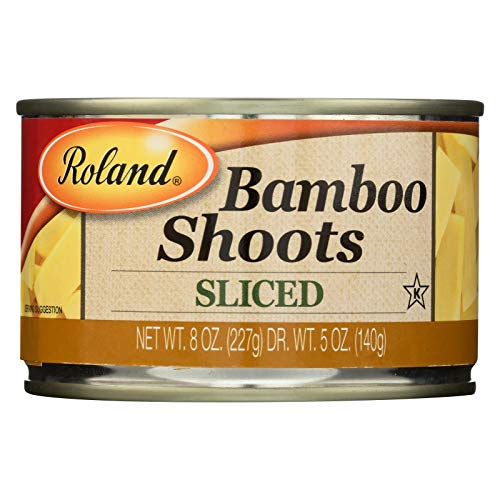Roland Bamboo Shoots Sliced Boiled In Water 8 OZ Pack of 3