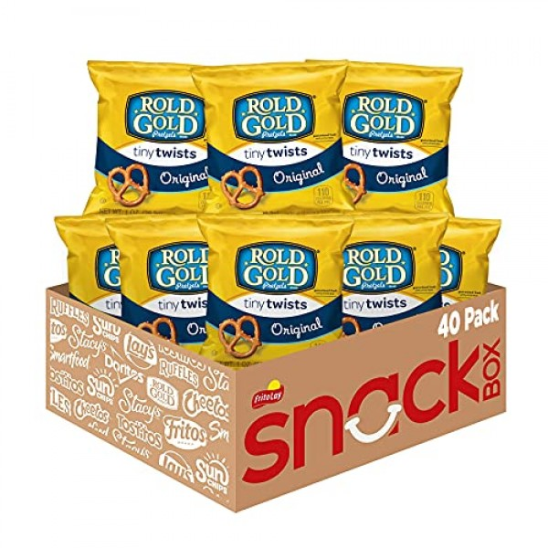 Rold Gold Tiny Twists Pretzels, 1 Ounce Pack of 40