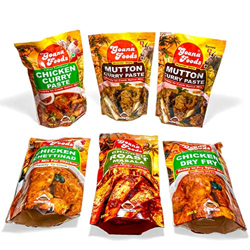 Ron Foods Indian Mixed Masala Combo of 6 | 2 Mutton Curry Past...