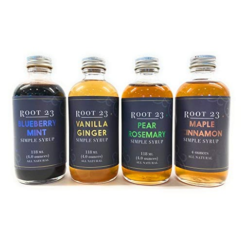 ROOT 23 Eclectic Cocktail Mixer Set I 4 oz bottles 4-Pack I As...