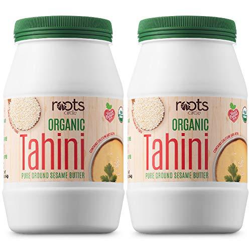 Roots Circle USDA Organic Tahini Paste | 100% Pure Creamy Ground...