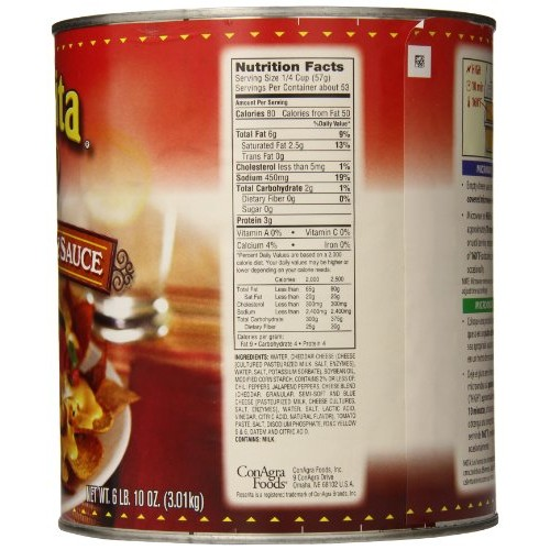 Rosarita Nacho Cheese Sauce, 106 Ounce (Pack of 6)