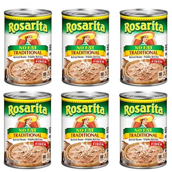 Rosarita Refried Beans 16oz Can Pack of 6 Choose Flavor Below ...