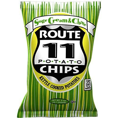 Route 11 Potato Chips Sour Cream & Chive Case of 30 - 2 oz Bags