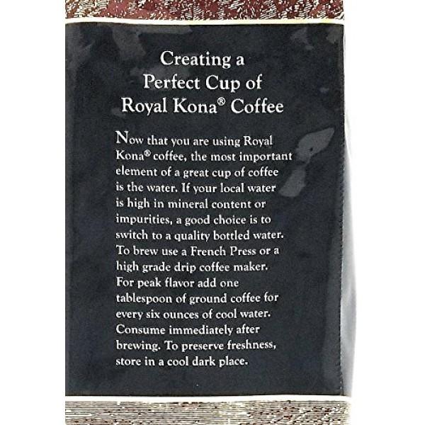 Royal Kona 10% Kona Coffee Blend, Vanilla Macadamia Flavor - Gro...
