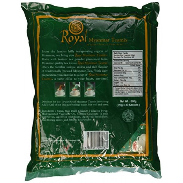 Royal Myanmar Tea Mix 30 Packets