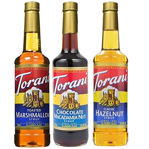 Torani Syrup 3 pack 25.4 Ounce Each Toasted Marshmallow, Choco...