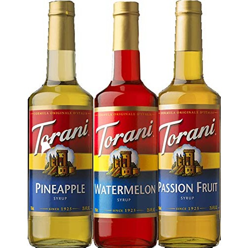 Torani Syrup Summer Fun 3 pack Assortment, Passionfruit, Pineapp...