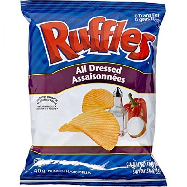 Lays 48pk Ruffles All Dressed 40g per pack