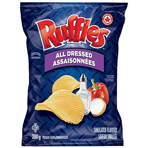 Lays Ruffles All Dressed Chips - Large Bag - 200 Gram - Importe...