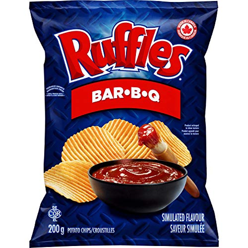 Lays Ruffles Bar-B-Q Potato Chips 200g/7.1 oz. {Imported from C...