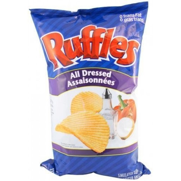 Lays Ruffles Potato Chips, All Dressed, Large Bag {Imported Fro...
