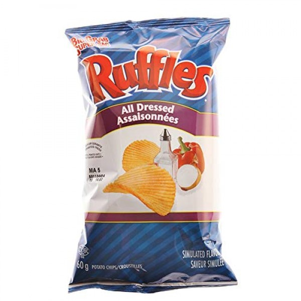 Ruffles All Dressed Potato Chips 60g/2.1oz, 36 Count {Imported f...