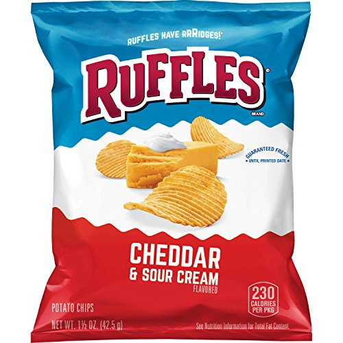 Ruffles Cheddar & Sour Cream Flavored Potato Chips, 1.5 Ounce P...