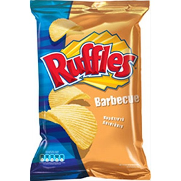 Ruffles Potato Chips From Greece with Barbeque - 22 Packs X 72g ...