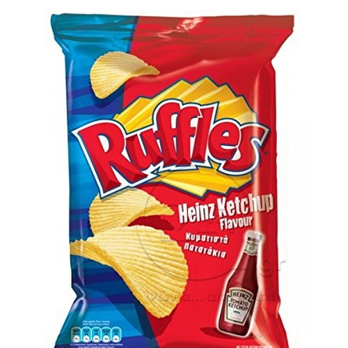 Ruffles Potato Chips From Greece with Ketchup - 10 Packs X 72g ...