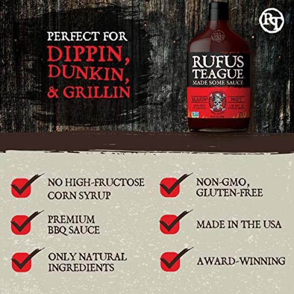 Rufus Teague: BBQ Sauce - 16oz Bottles - Premium BBQ Sauce - Nat...