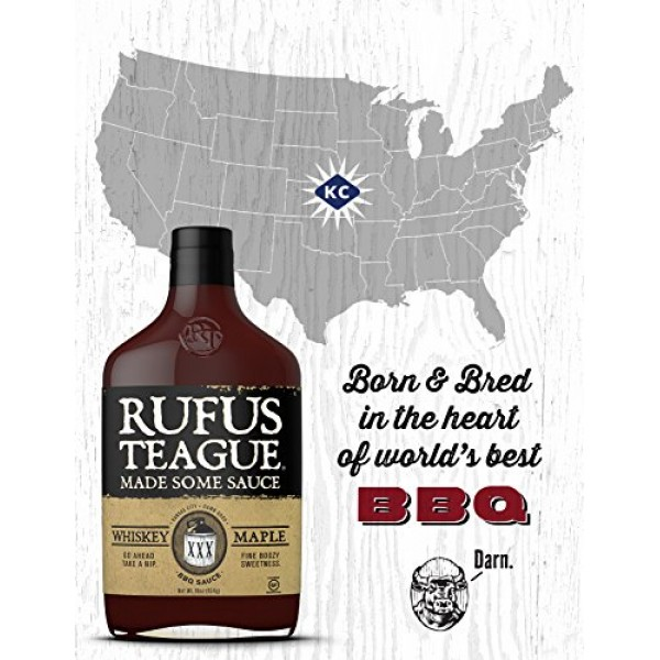 Rufus Teague WHISKEY MAPLE BBQ SAUCE – 2 Pack 16oz Bottles
