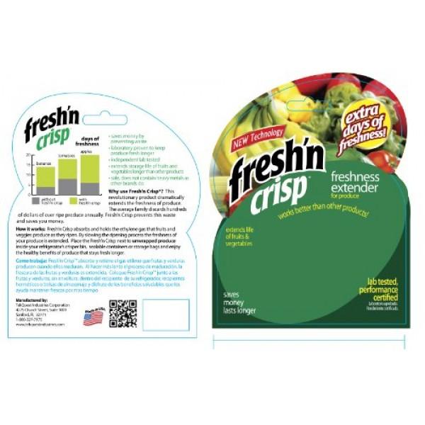 TekQuest 63042 Fresh n Crisp Produce Freshness Extender, Pack of 4
