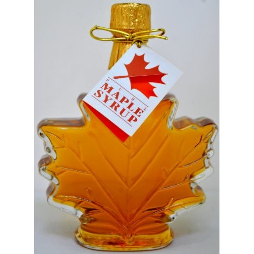Pure Maple Syrup in Glass Maple Leaf - 8.45 oz 2 bottles