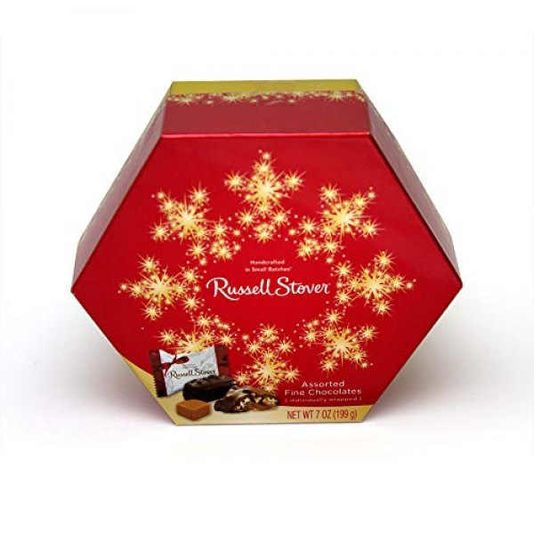 Russell Stover Assorted Chocolates Wrapped Hexagon, 7 oz. Box
