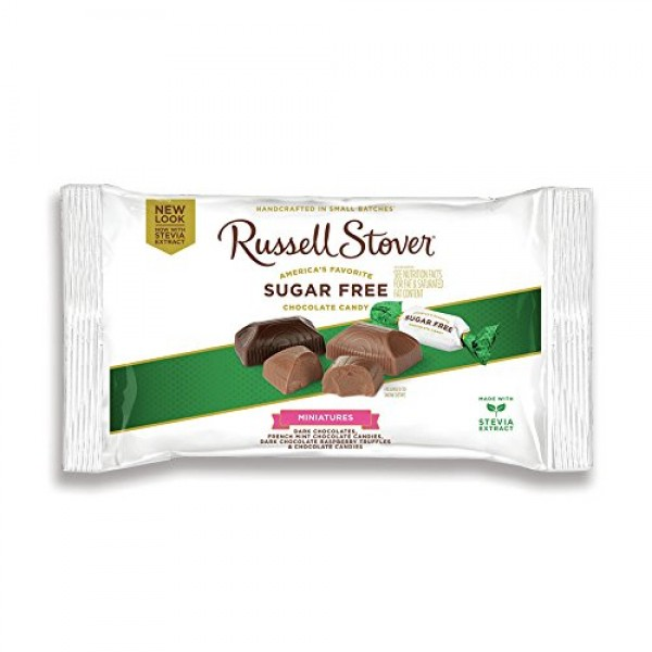 Russell Stover Sugar Free Assorted Chocolate Candy Miniatures La...