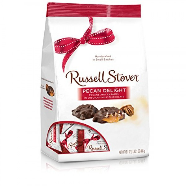 Russell Stover Pecan Delight Gusset Bag 16.10 Ounce Russel Stove...