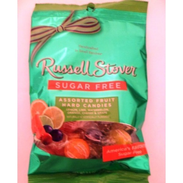 Russell Stover Sugar Free Assorted Fruit Hard Candies Net Wt 3.4...