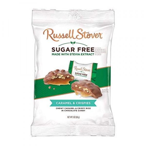 Russell Stover Sugar-Free Crispy Caramels 3 Ounce Pack of 12 R...