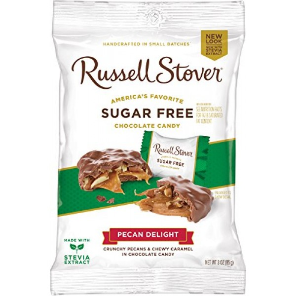 Russell Stover Sugar-Free Pecan Delight, 3 Ounce Peg Bag Pack o...