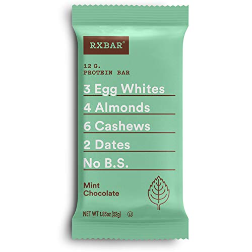 RXBAR, Mint Chocolate, Protein Bar, 1.83 Ounce Pack of 12, Hig...
