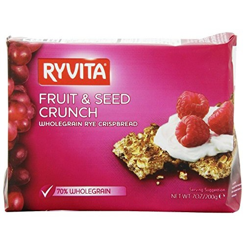 Ryvita Fruit and Seed Crunch Crispbreads, 7 Ounce Pack of 8