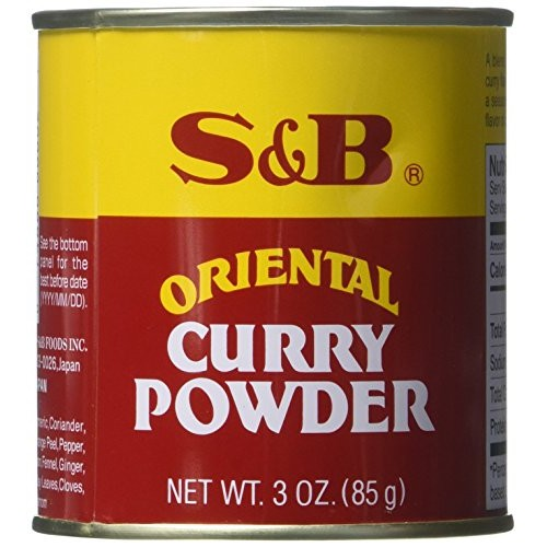 S&B Curry Powder, Oriental, 3 oz 85 g Pack of 2