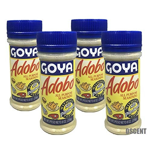 Goya Adobo All Purpose Seasoning without Pepper, 8.0 OZ (4 VALUE...