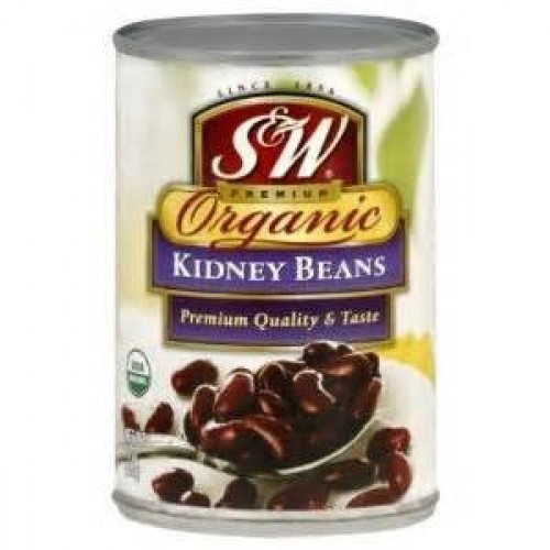 S&W Kidney Beans, Organic, 15-Ounce Pack of 8