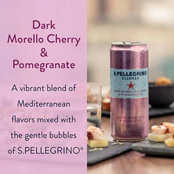 S.Pellegrino Essenza Dark Morello Cherry & Pomegranate Flavored ...