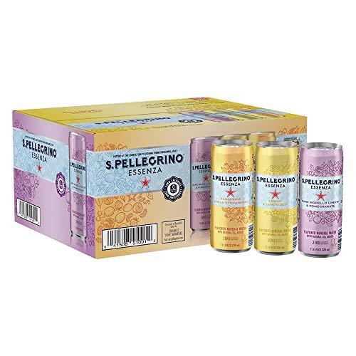 S.Pellegrino Essenza Flavored Mineral Water, 11.15 fl oz. Cans ...